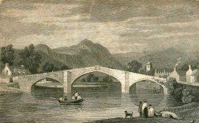 Llanrwst Bridge. Great Britain. 1830.