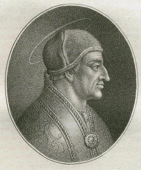 Quirin Mark. Portrait Of Saint Symmachus. 1809.