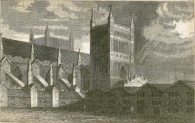 Exeter Cathedral. England. 1821.