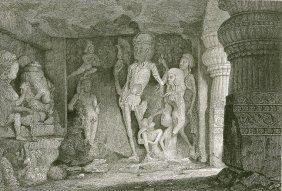 Rameswur Caves Of Ellora. India. 1831.