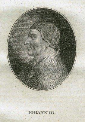 Quirin Mark. Portrait Of Saint John Iii. 1809.