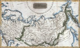Map Of The Russian Empire. ~1820.
