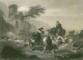 Berchem. Laban And His People. Netherlands. 1874.