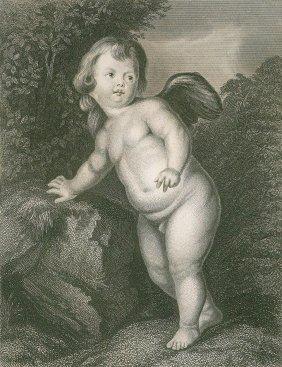 Sir Anthony Van Dyck. Cupid. Netherlands. 1874.