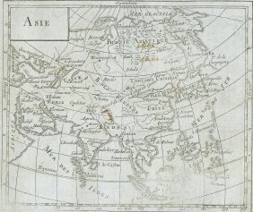 M. Barthelemy. Map Of Asia. 1809.