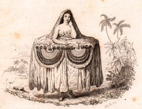 M. Dumont D'urville. Young Tahitian Bringing Gifts.1834