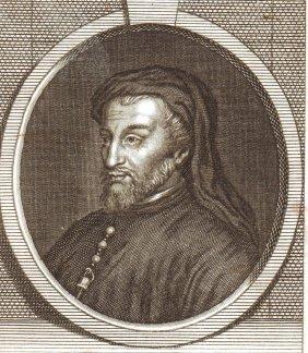 Portrait Of Geoffrey Chaucer. England. 18 Th.