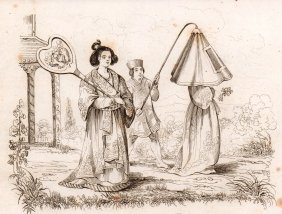 De Saison. Japanese Ladies At The Promenade. 1834.