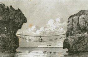 String Bridge Near Lerwick. Shetland Islands. 1842.