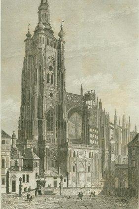 The Metropolitan Cathedral. Bohemia. 1840.