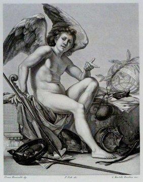 Orazio Riminaldi. The Genius Of The Arts. Italy. 1842.