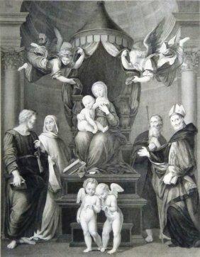 Raffaello Sanzio Da Urbino. Madonna Under Baldachin.