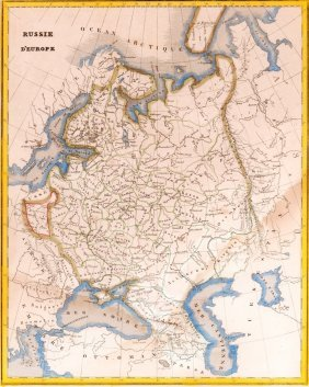Map Of European Russia. 1835.
