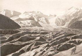 Landscape Of The Morteratsch Glacier. Switzerland. 19th