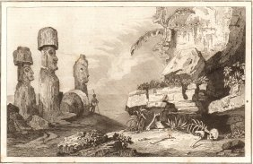 Ruins Of A Monument. Waihou Island. New Zealand. 1837.