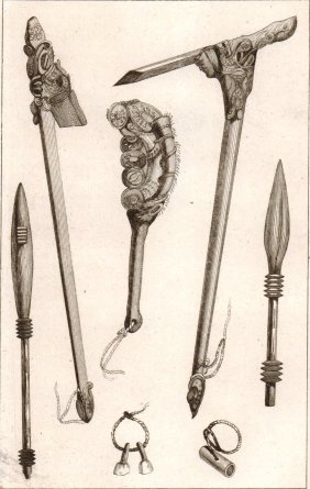 Paddles And Weapons. New Zealand. 1837.