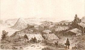 Inside View Of Pah Kaouvera. New Zealand. 1837.