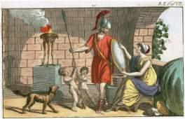 Historical scene Ancient Rome 18th