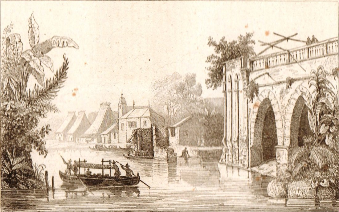 Ruins in a suburb of Manila. Philippines. 1836.