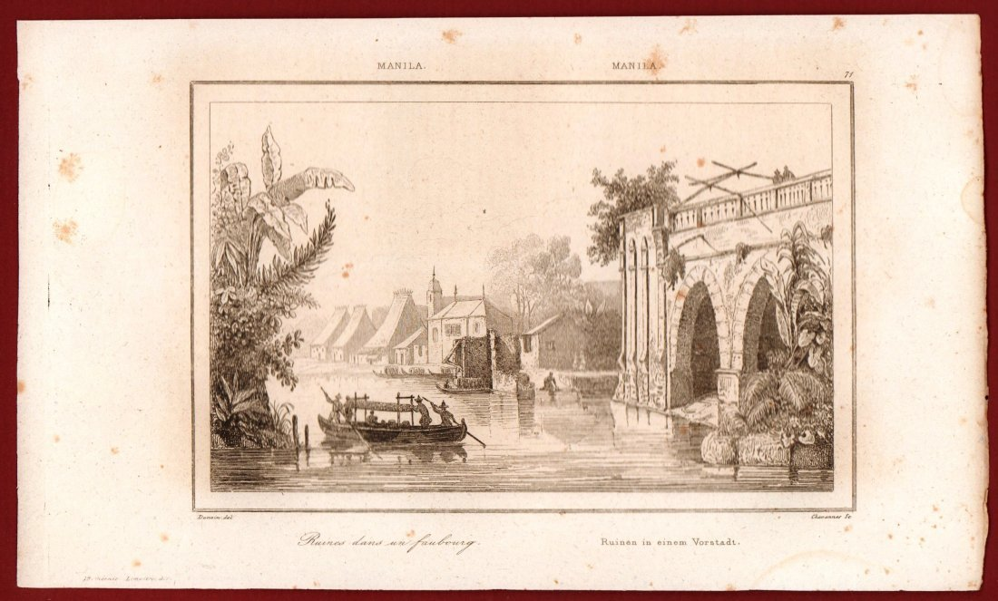 Ruins in a suburb of Manila. Philippines. 1836. - 2