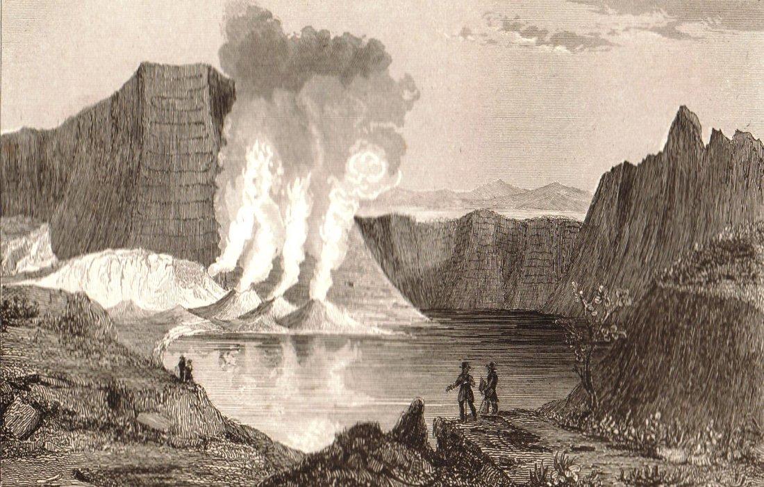 Taal volcano. Philippines. 1836.