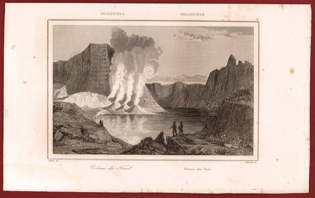 Taal volcano. Philippines. 1836. - 2