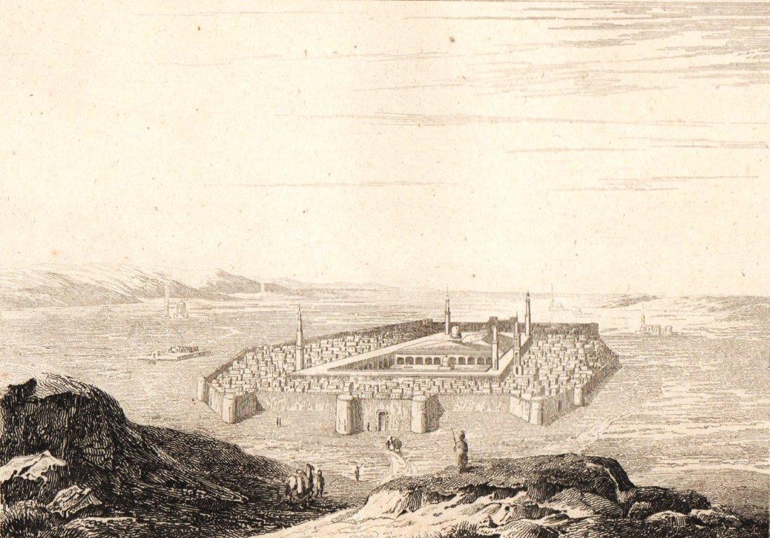 Medina and the Prophet Sepulchre. Arabia. 1847.