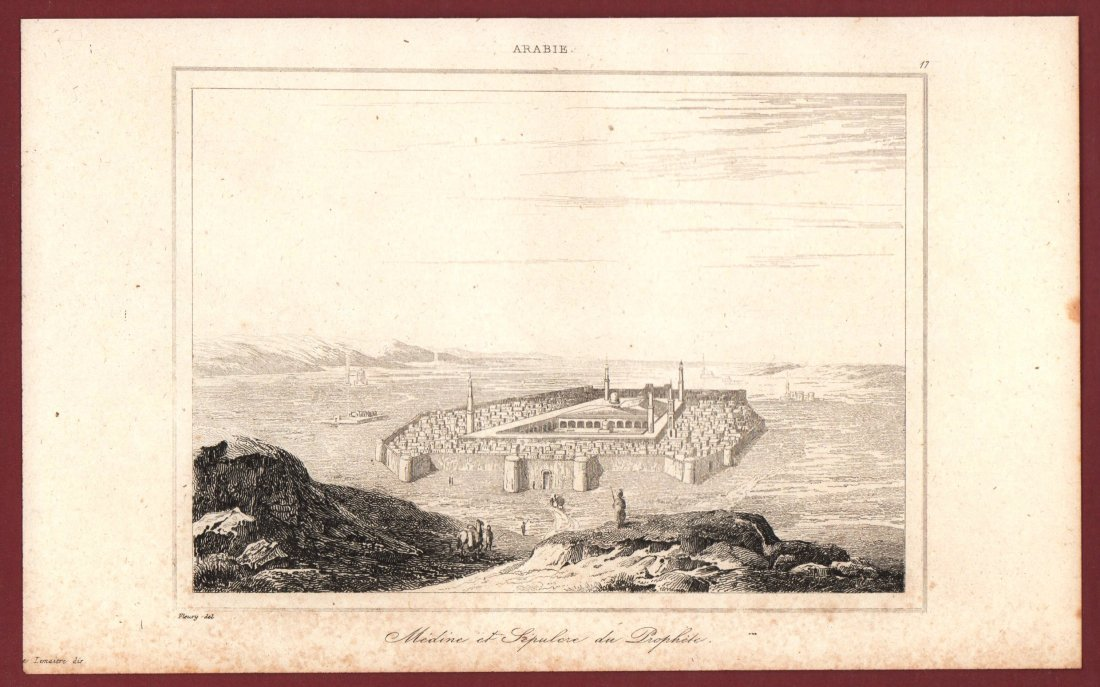 Medina and the Prophet Sepulchre. Arabia. 1847. - 2