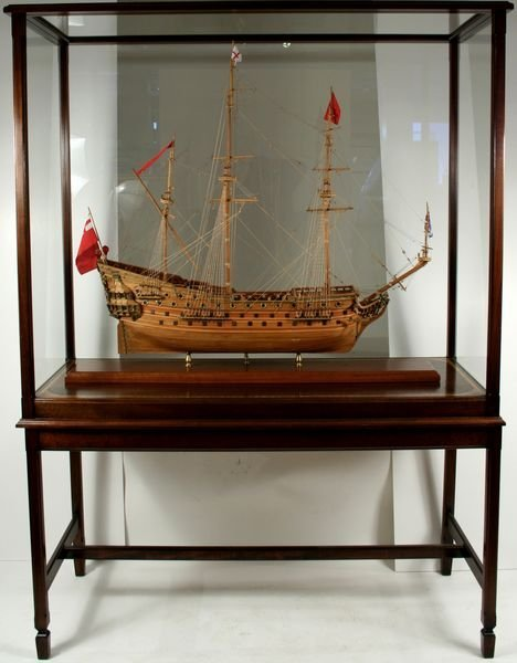 1006: 20th C. LARGE CASED MODEL OF THE 'HMS PRINCE'