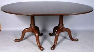 1140A HENKEL HARRIS SOLID MAHOGANY DINING TABLE