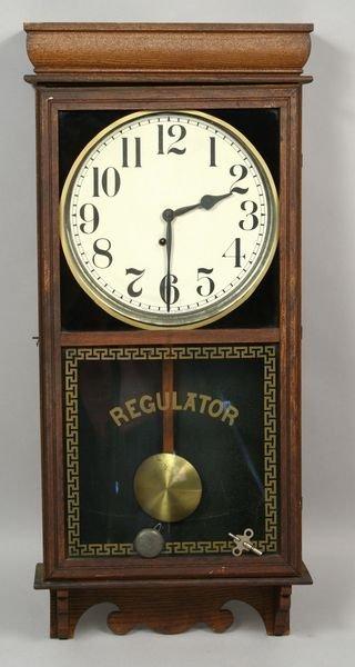 1361 C1890 Ingraham Regulator Wall Clock Bristol Jul