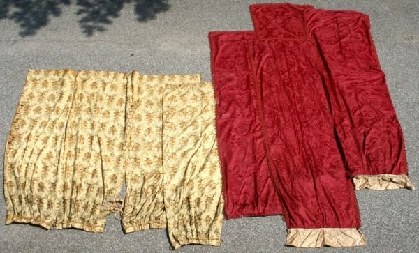 1005: FOUR PAIRS OF 19th/20th CENTURY DRAPES