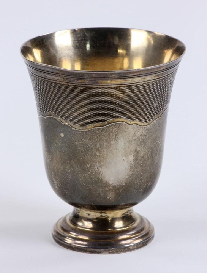 Engraved French Silver Cup - 2