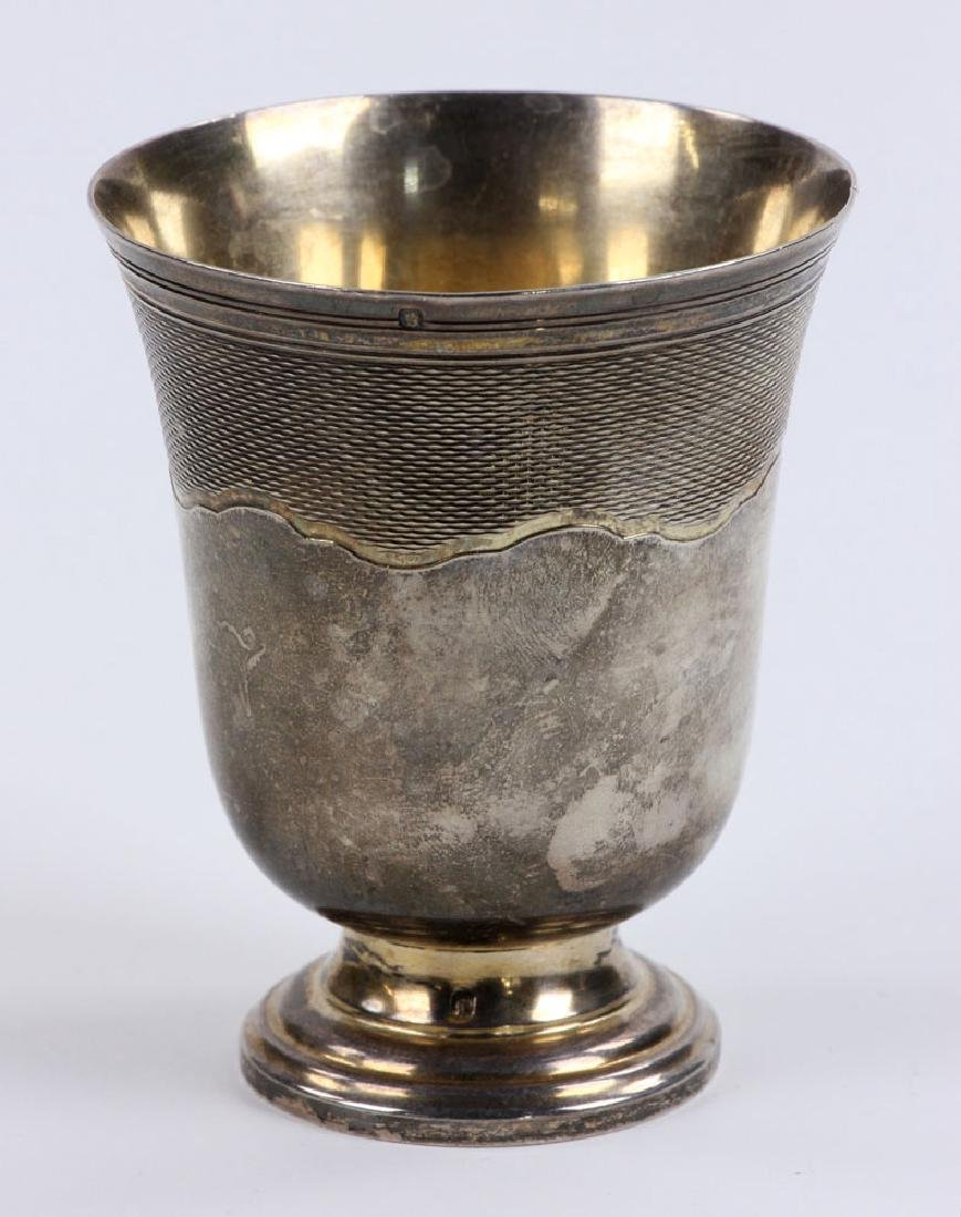 Engraved French Silver Cup - 3