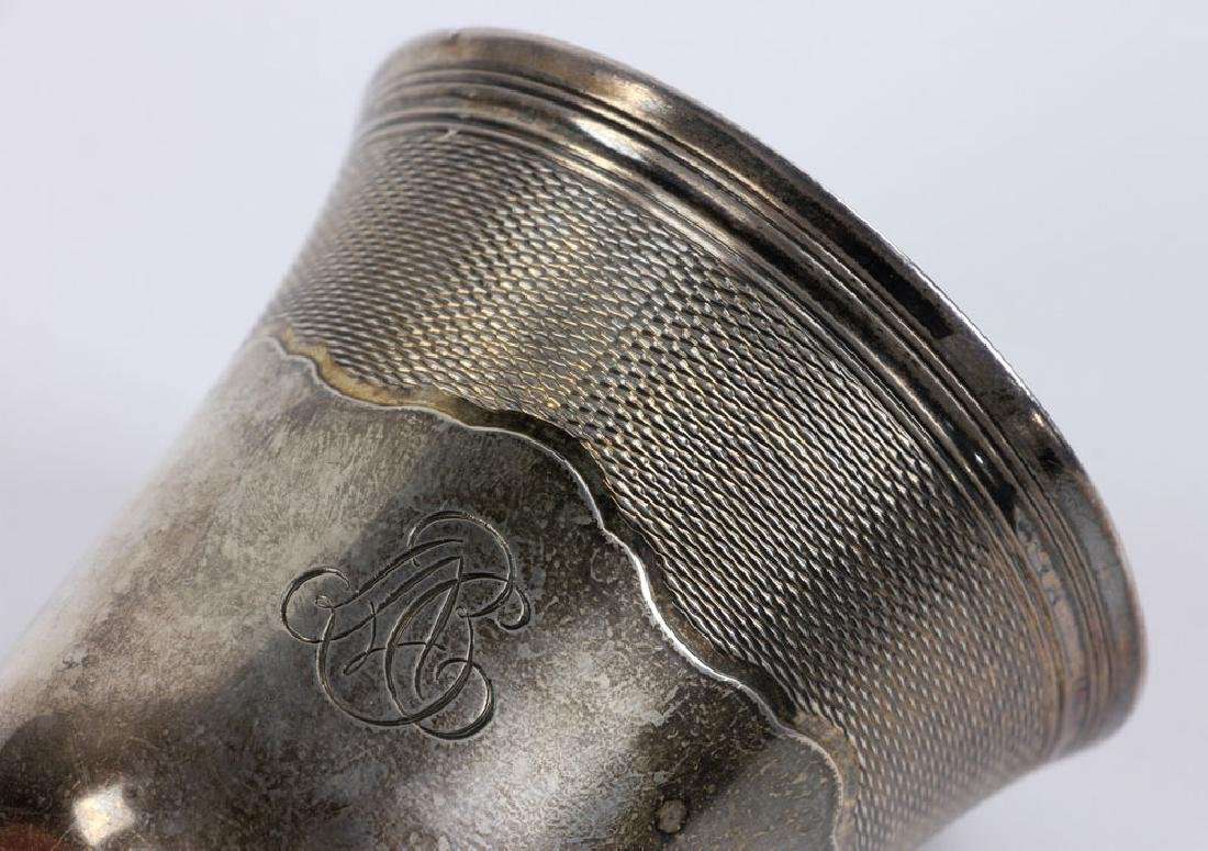 Engraved French Silver Cup - 6