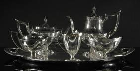"Gorham ""Plymouth"" Sterling Tea Set"
