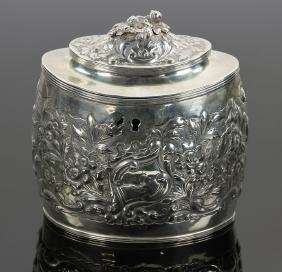 English Sterling Silver Tea Caddy