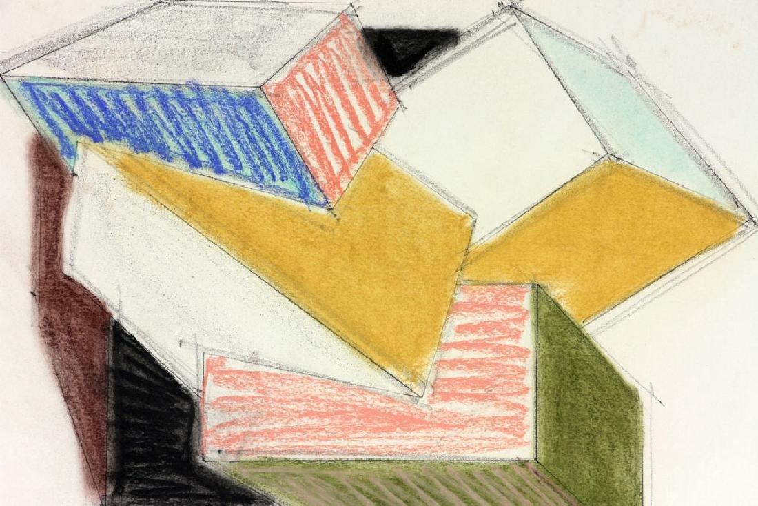 Hinman, Cubist Drawing, Pastel - 3