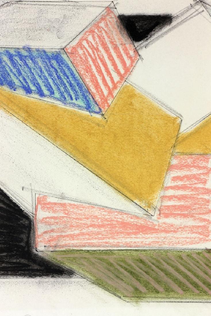 Hinman, Cubist Drawing, Pastel - 4