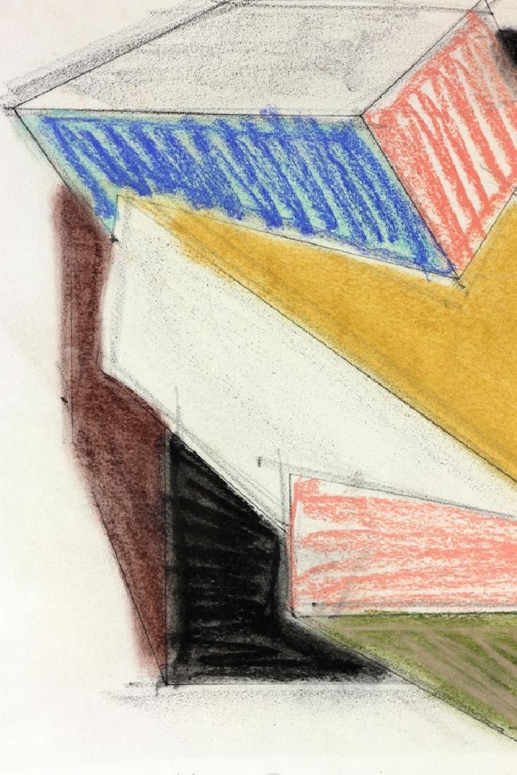 Hinman, Cubist Drawing, Pastel - 6