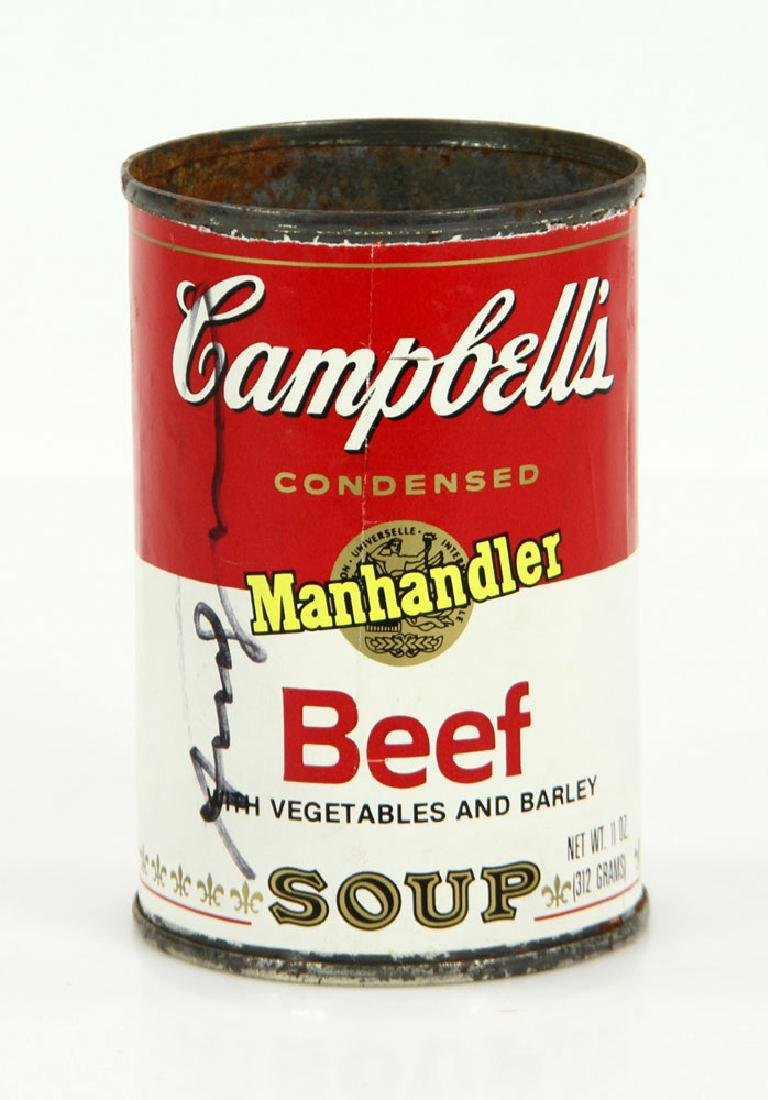 Warhol Autographed Soup Can