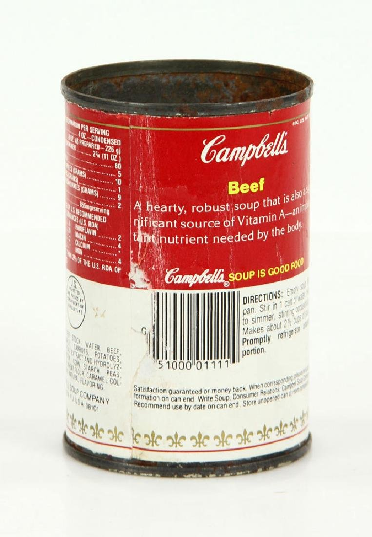 Warhol Autographed Soup Can - 2