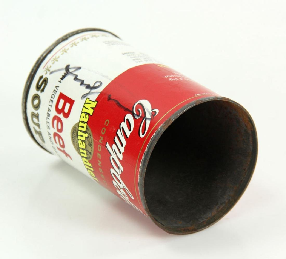 Warhol Autographed Soup Can - 4