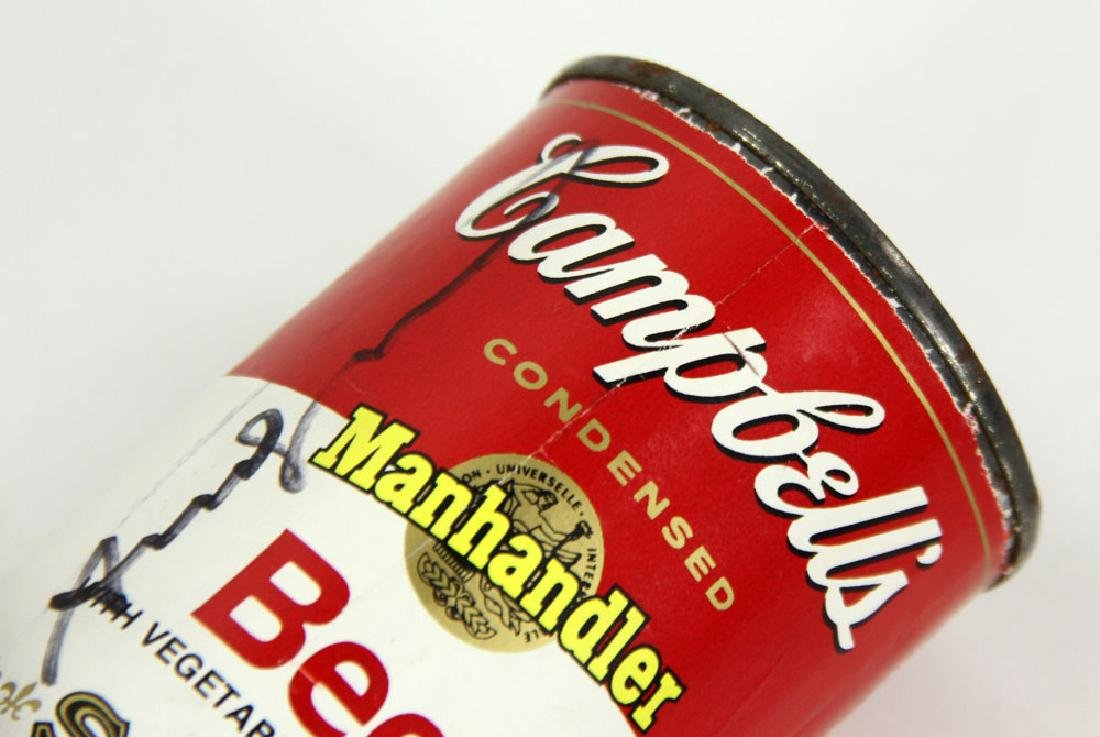 Warhol Autographed Soup Can - 7