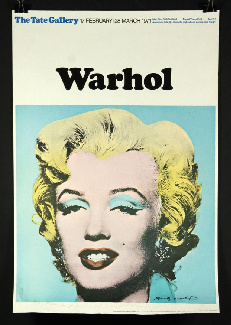Warhol Autographed Tate Gallery Poster