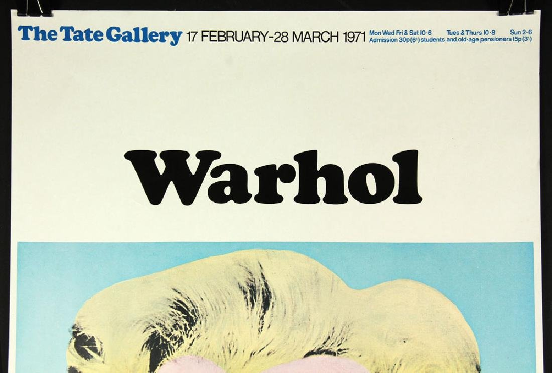 Warhol Autographed Tate Gallery Poster - 2