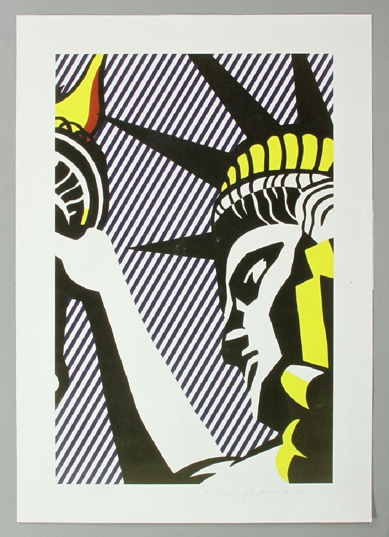 """Lichtenstein, """"I Love Liberty,"""" Artist Proof"""