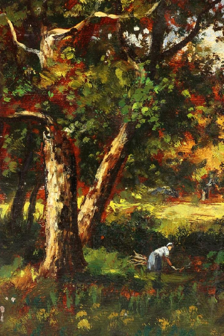 Attr. de la Pena, French Landscape, Oil on Panel - 6