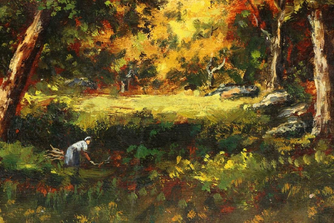 Attr. de la Pena, French Landscape, Oil on Panel - 8