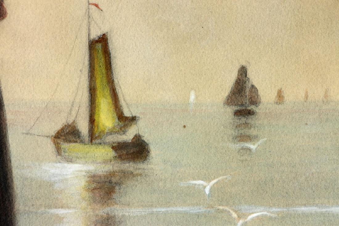 Artz, Family at Seaside, Gouache - 4